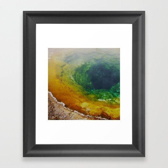 Morning Glory Pool Framed Art Print