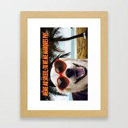 Carte Postale - Même au soleil tu ne me manques pas Framed Art Print