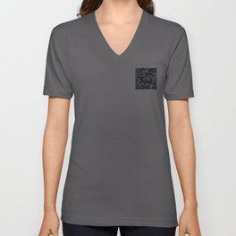 Pixelated Dark Grey Camouflage Unisex V-Neck