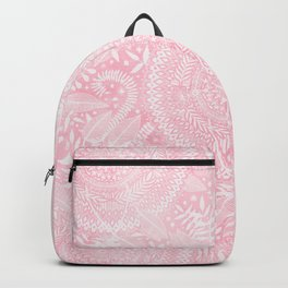 Medallion Pattern in Blush Pink Backpack