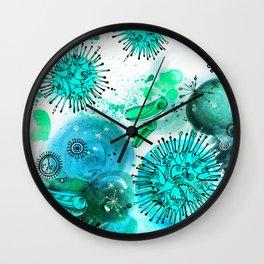 Views Through The Microscope Wall Clock
