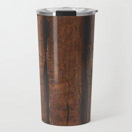 Rustic brown old wood Travel Mug