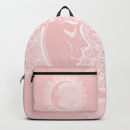 Mandala Moon Pink Backpack