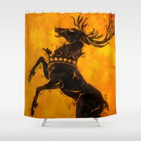 stag Shower Curtains featuring Stag by Narwen