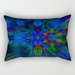 glitch mandala flower Rectangular Pillow