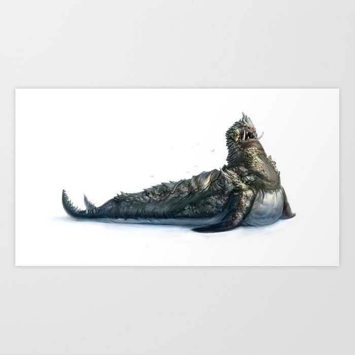 Colossal Sea Beast Art Print