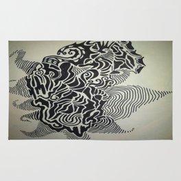 Ink Doodle Graphic Design Rug