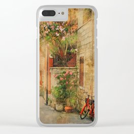 The Red Bike Clear iPhone Case