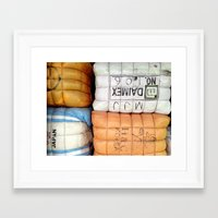 korea Framed Art Prints featuring Korea pattern by VariaM