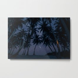 Find Me Under The Palms Metal Print
