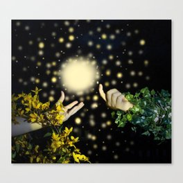 Hands Calling the Light Canvas Print