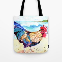 Rooster at the Beach Tote Bag