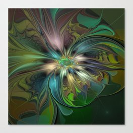 Colorful Abstract Fractal Art Canvas Print
