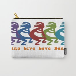 Sing, Live, Love Dance Tribal Kokopelli Carry-All Pouch