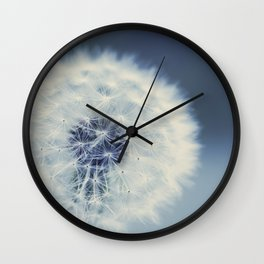 dandelion blues Wall Clock