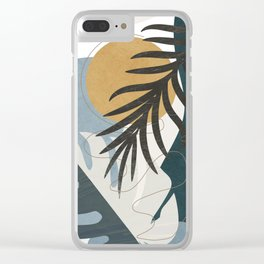 Abstract Tropical Art II Clear iPhone Case