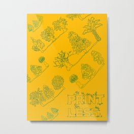 Print Less Pattern Poster Metal Print