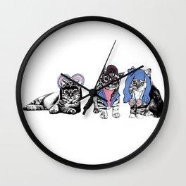 Blue Cats  Wall Clock