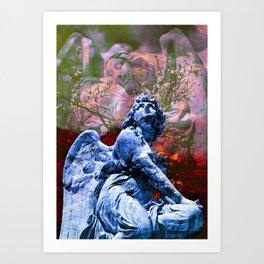 Io non cambierei il canto di un angelo - blue Art Print