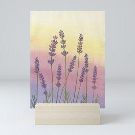 Lavender in Sunset Mini Art Print
