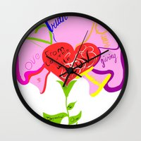 queer Wall Clocks featuring The Intergenerational Queer Diologue Project by WhispoSilverwolf