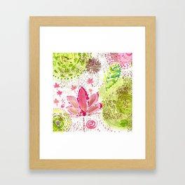 Floating Pink Lotus Framed Art Print