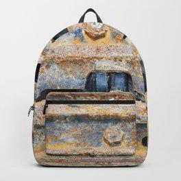 Rusty excavator caterpillar Backpack