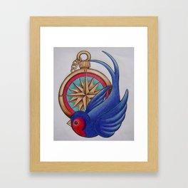 Stop off in the Nautical Framed Art Print