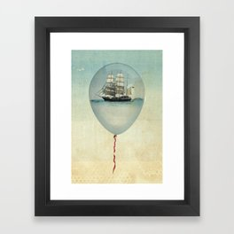 All at Sea  Framed Art Print