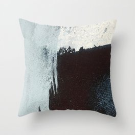 Like A Gentle Hurricane [3]: a minimal, abstract piece in blues and white by Alyssa Hamilton Art Throw Pillow