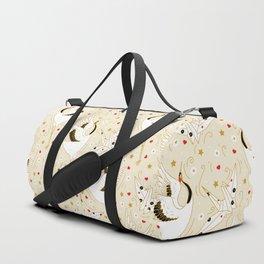 Origami Crane Metamorphosis (Cream) Duffle Bag