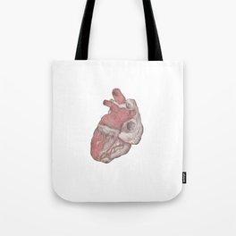 Human heart illustration - Pencil & Watercolor Tote Bag