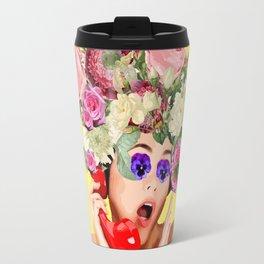 Woman in Rose Travel Mug