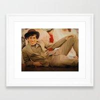 caleb troy Framed Art Prints featuring Troy by Eddie Frietas