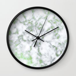 Emerald marble textures Wall Clock