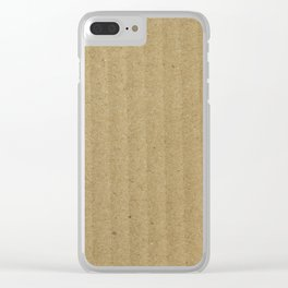 Texture #20 Cardboard Clear iPhone Case