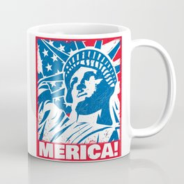Statue of Liberty USA Merica Independence Day Coffee Mug