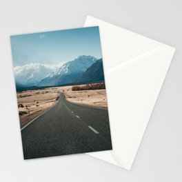 Road to Mt Cook, New Zealand Stationery Cards