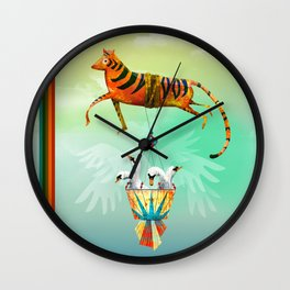 Tiger and the Swan Brothers Wall Clock