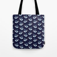 swallow Tote Bags featuring Swallow by Azulblau