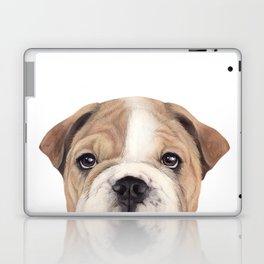 Bulldog Original painting Dog illustration original painting print Laptop & iPad Skin