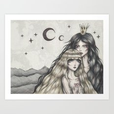 Two Moons Art Print