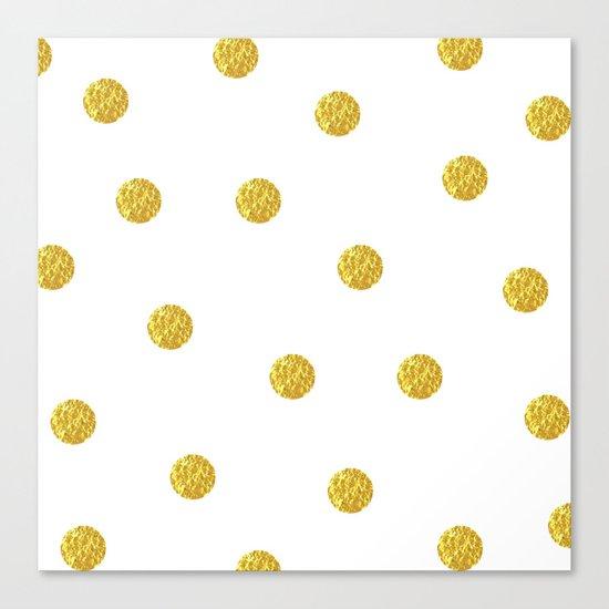 Golden Dots Canvas Print