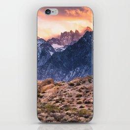 Mount Whitney and Alabama Hills Sunset iPhone Skin