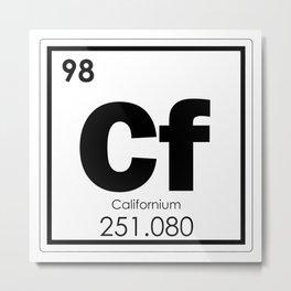 Californium Metal Print