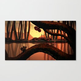 Orange Forest Canvas Print