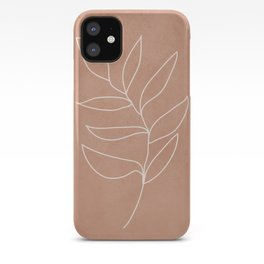 Engraved Leaf Line iPhone Case