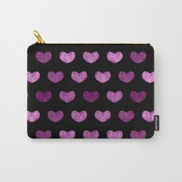 Colorful Cute Hearts VI Carry-All Pouch