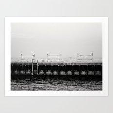 Chicago's Diversey Harbor Art Print