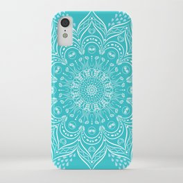 Teal Boho Mandala iPhone Case